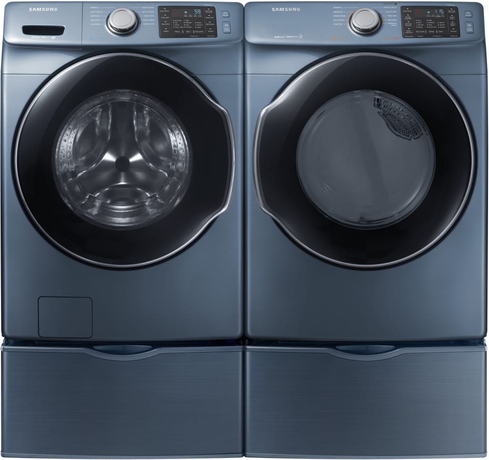 with washers steam front pedestals load ft and dryers pedestal cu samsung appliances washer electric dryer