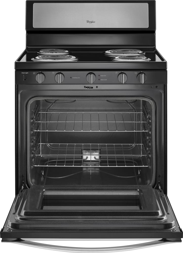 Electric Oven Open ~ Whirlpool wfc s es inch freestanding electric range
