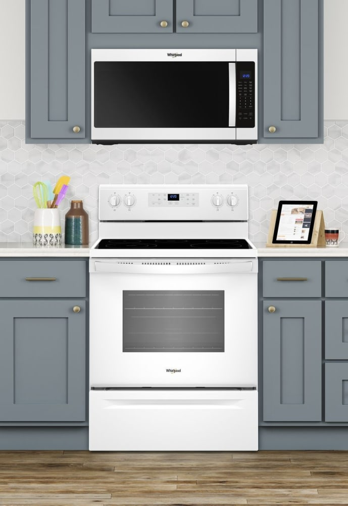 Whirlpool WFE505W0HW 30 Inch Freestanding Electric Range with Frozen ...