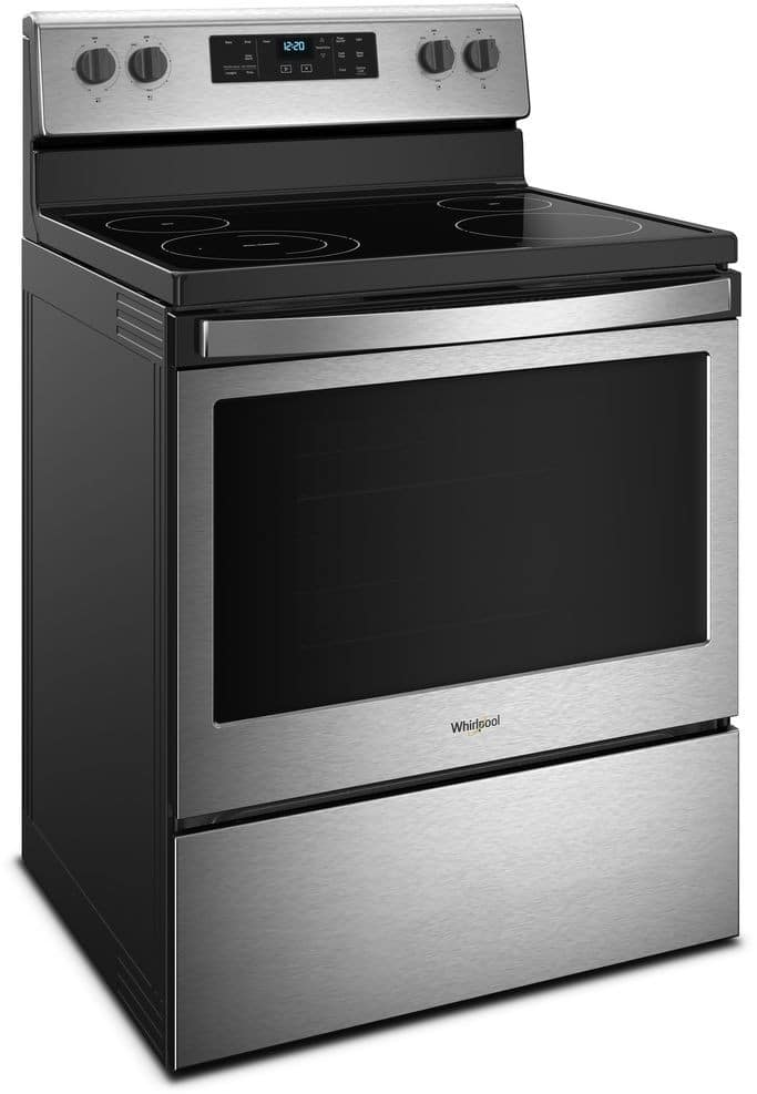 Whirlpool Wfe510s0hs 30 Inch Freestanding Electric Range