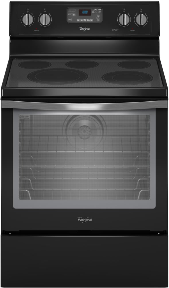 Whirlpool Wfe540h0ee Black Ice Front View