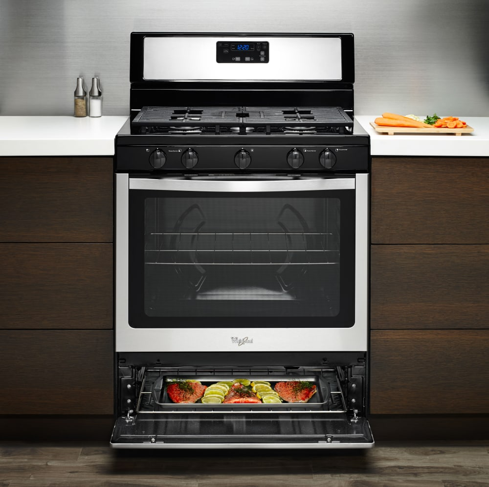 Kitchen Stove Installation Guide: Whirlpool WFG505M0BW 30 Inch Freestanding Gas Range With