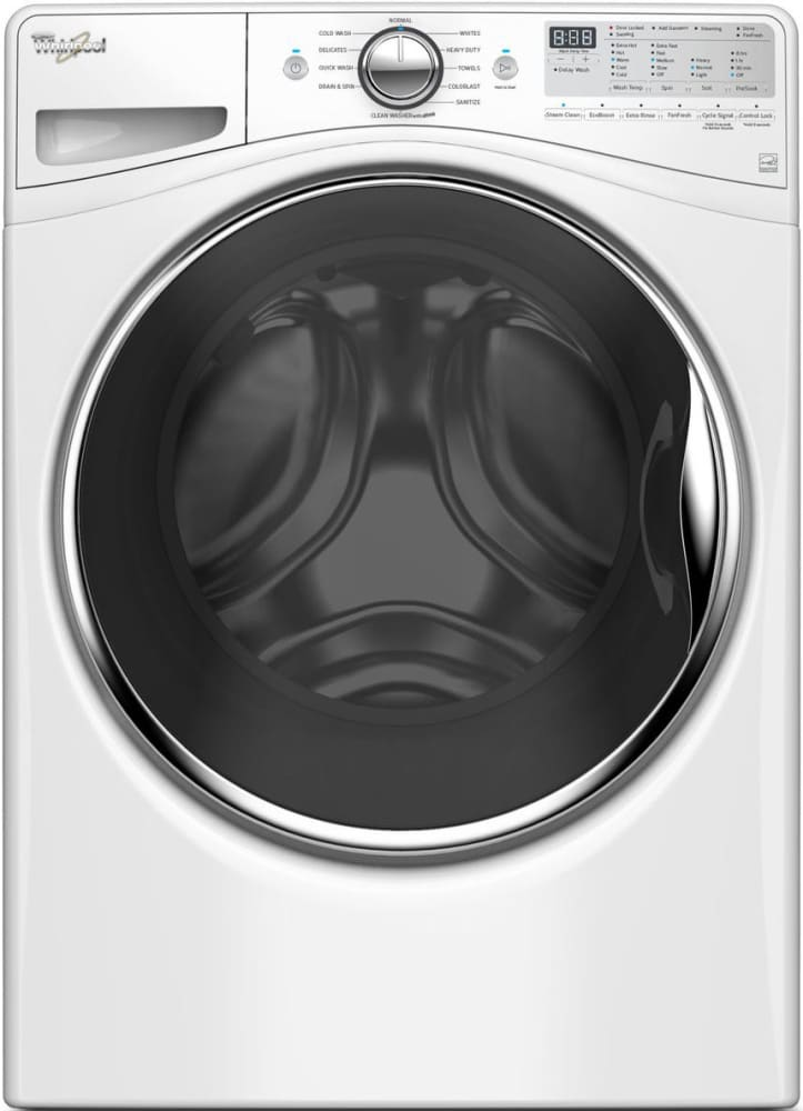 whirlpool wfw90hefw 27 inch 4 2 cu ft front load washer with 11 wash cycles 1 200 rpm steam. Black Bedroom Furniture Sets. Home Design Ideas