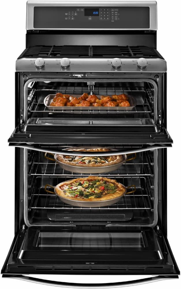 whirlpool wgg555s0bs inside view stainless steel - Gas Range Double Oven
