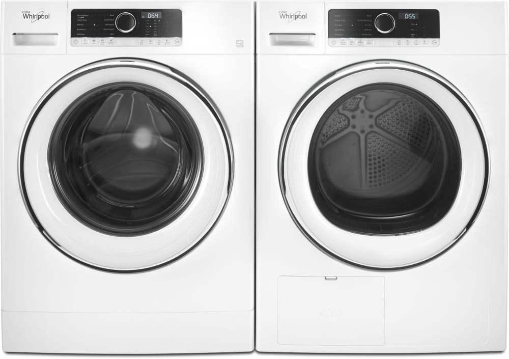 whirlpool wfw5090gw shown with matching dryer