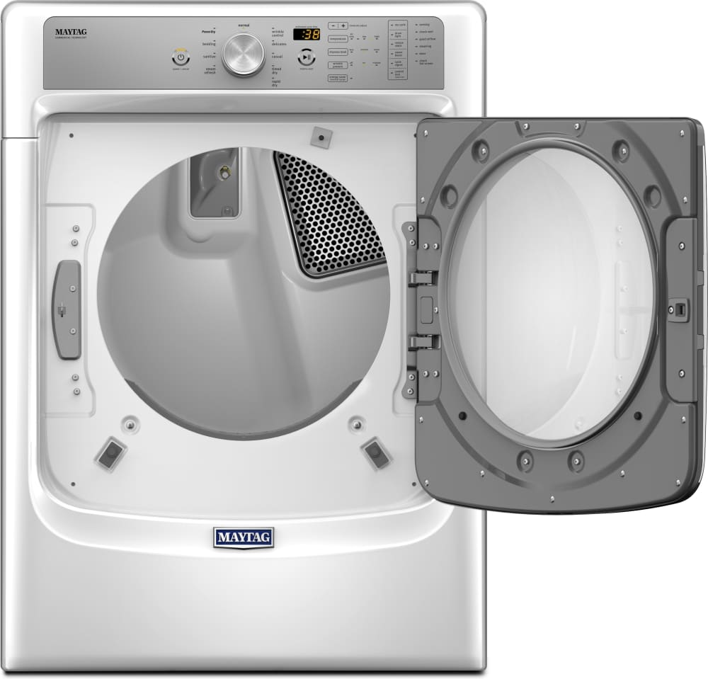Maytag med8200fw 27 inch 7 4 cu ft electric dryer with - Maytag whirlpool ...