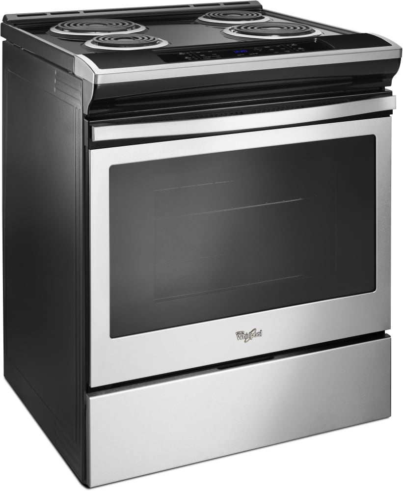 whirlpool electric range whirlpool wec310s0fs 30 inch slide in electric range with 10064