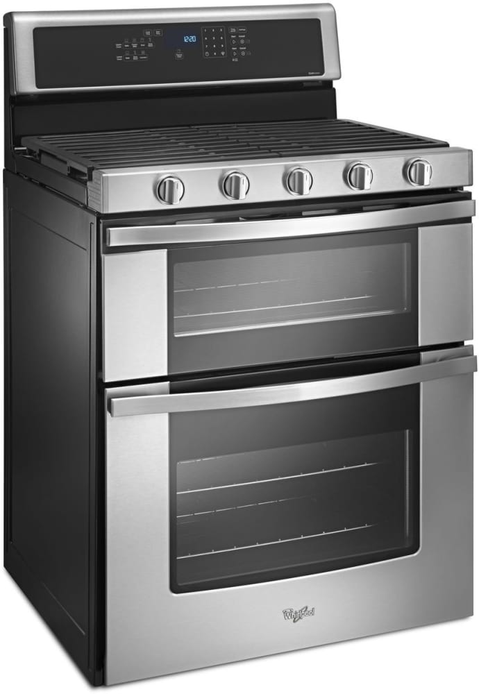 whirlpool wgg745s0fs 30 inch freestanding gas range with 5