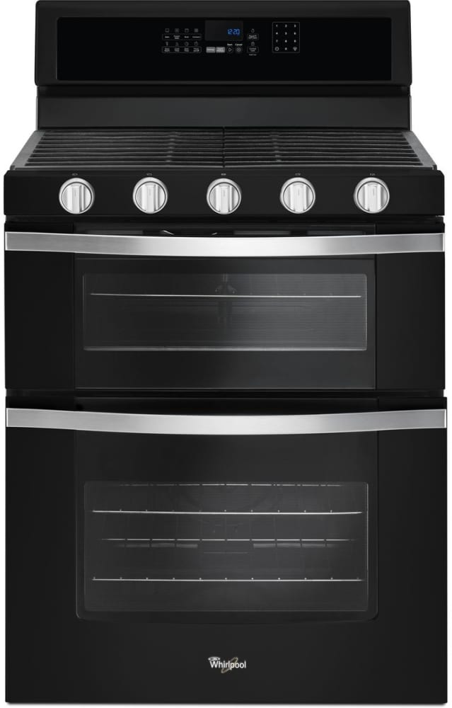 Whirlpool Wgg745s0fe Black Ice Front View