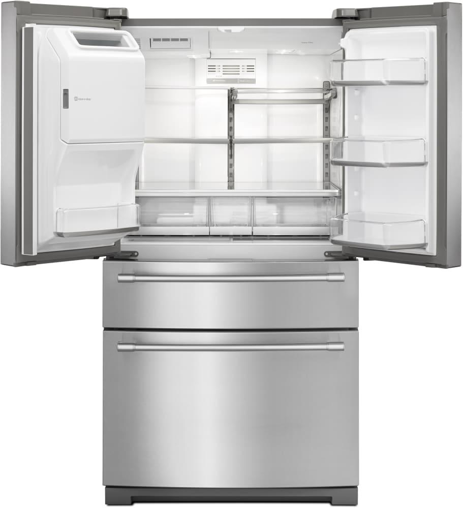 Maytag mfx2676frz 36 inch 4 door french door refrigerator for 17 cu ft french door refrigerator
