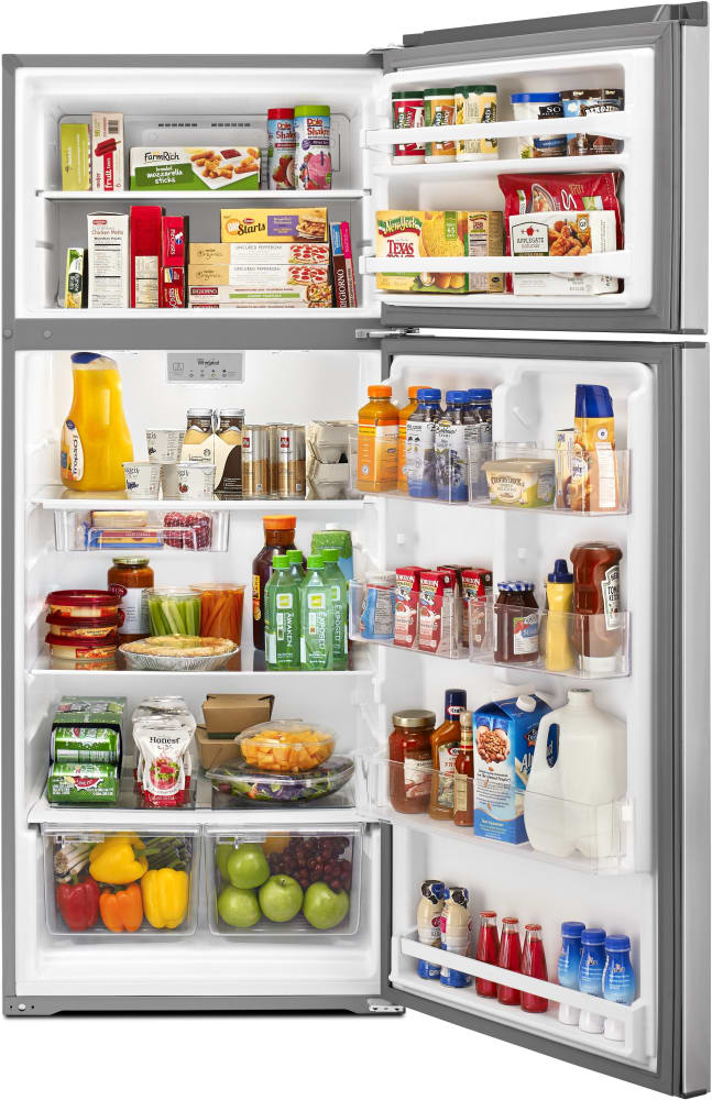 Most refrigerators feature one or two interior drawers called crisper drawers. The purpose of these drawers is to have a place inside the fridge that regulates humidity in addition to temperature. Store fruits, vegetables and meats in the drawers, and set the crisper setting -- ranging from high.