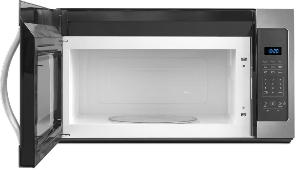 Whirlpool Wmh31017fs Black On Stainless Open View