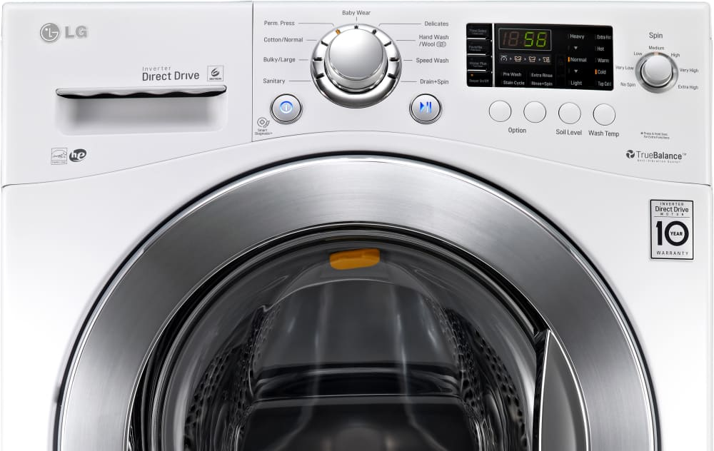 Lg Wm1377hw 24 Inch 2 3 Cu Ft Front Load Washer With 9