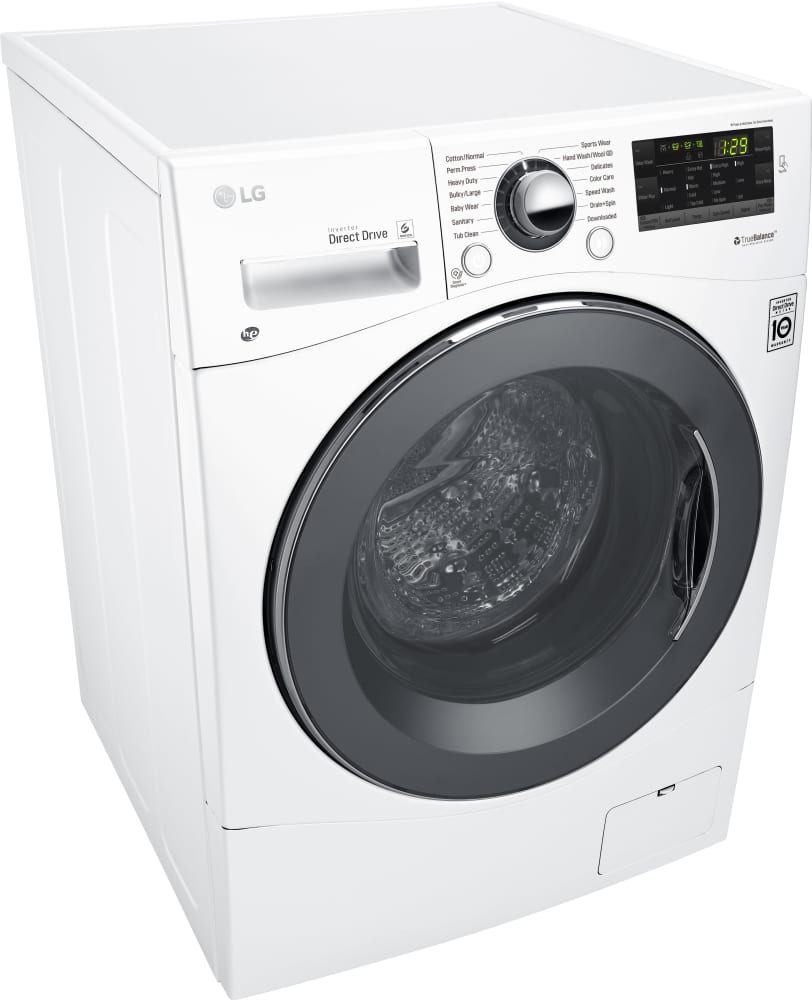 Compact Front Load Washers Lg Wm1388hw 24 Inch Front Load Washer With Speed Wash Loadsense