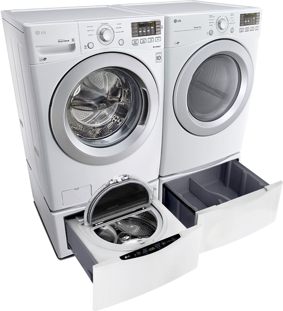 lg washer and dryer. lg dle3170w - shown with matching washer (pedestal sold separately) lg and dryer