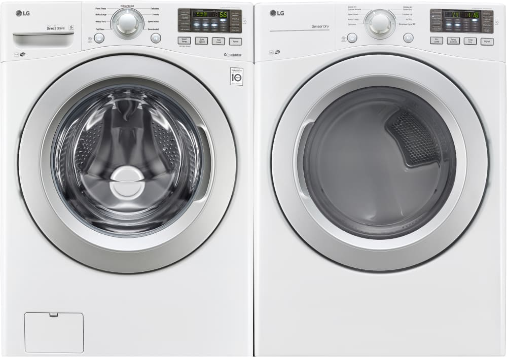 lg wm3270cw this washer matches dryers dle3170w electric or dlg3171w gas