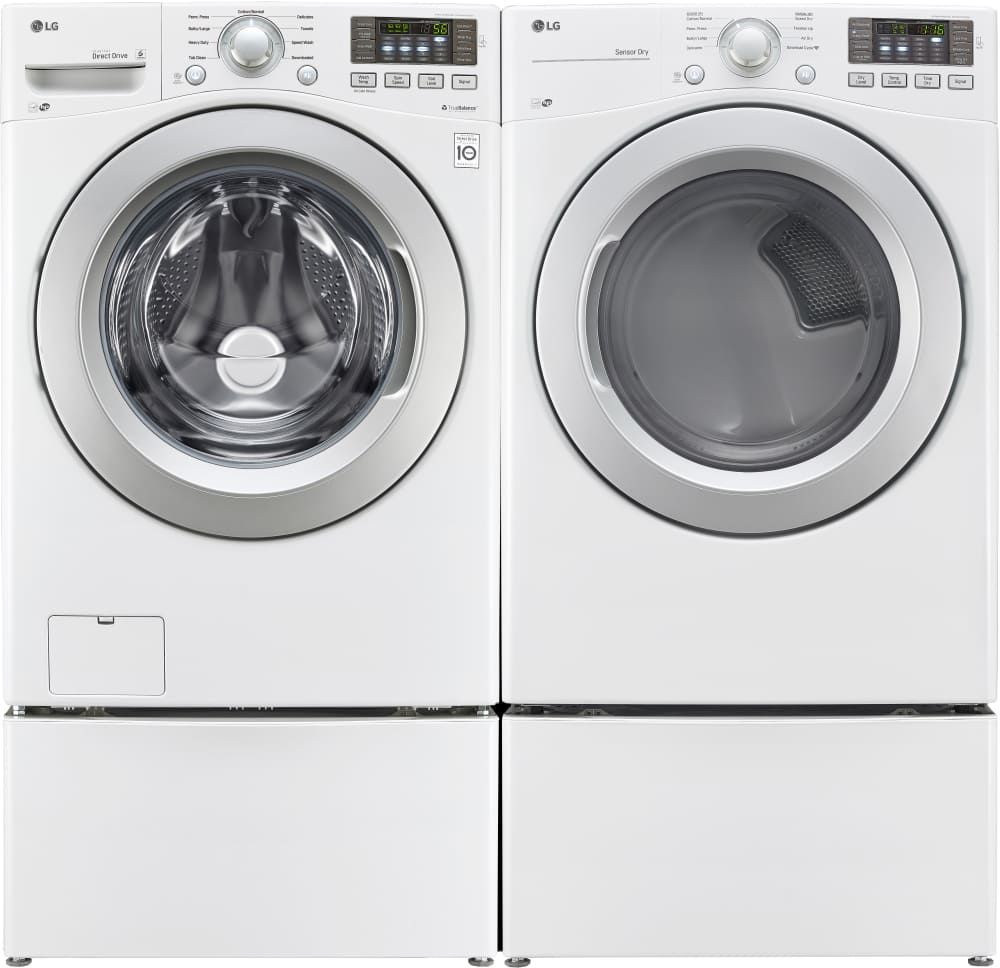 Lg Wm3270cw 27 Inch Front Load Washer With Nfc Smartphone