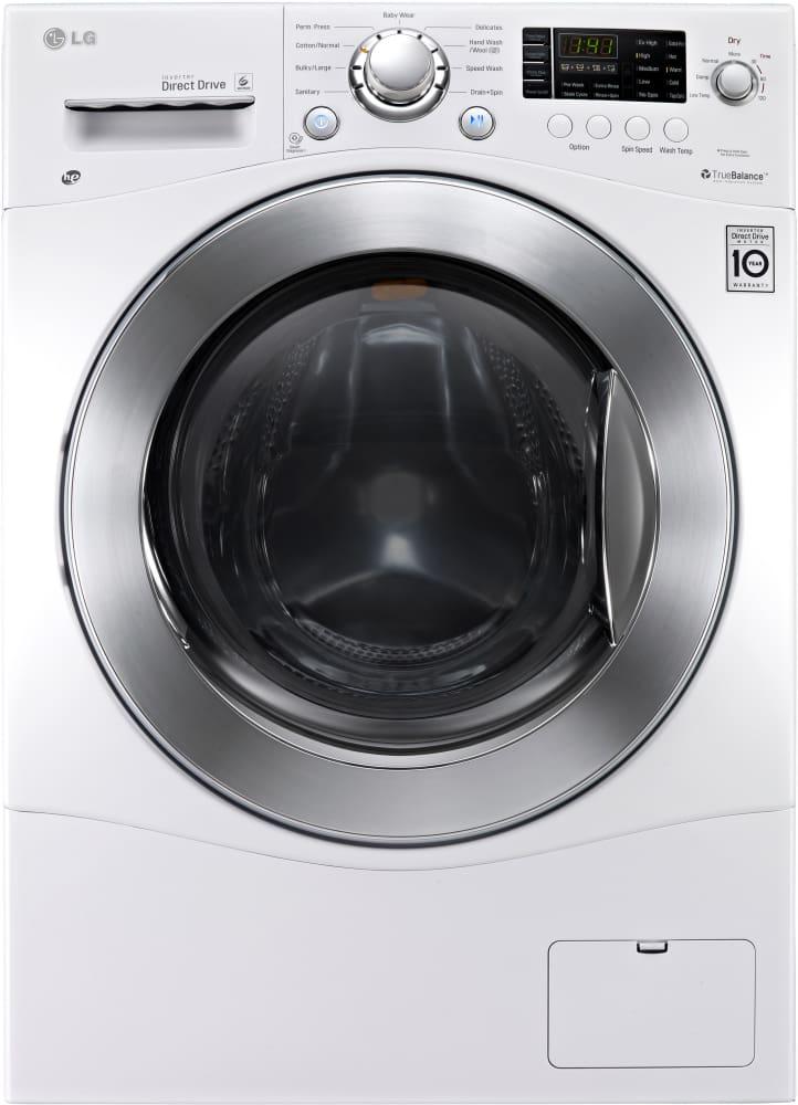 Lg Wm3477hw 24 Inch 2 3 Cu Ft Electric Washer Dryer