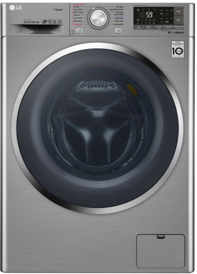 Lg Wm3499hva 24 Inch Front Load Washer Dryer Combo With 14 Wash Programs Condensing Dry Steam Clean Technology 1 400 Rpm Internal Heater Allergiene Cycle 6motion Technology Neverrust Drum Child Lock Smartthinq Voice Assistant