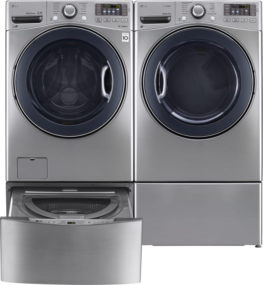 lg wm3575cv 27 inch 4 5 cu ft front load washer with 12 wash cycles 1 300 rpm turbowash lg. Black Bedroom Furniture Sets. Home Design Ideas