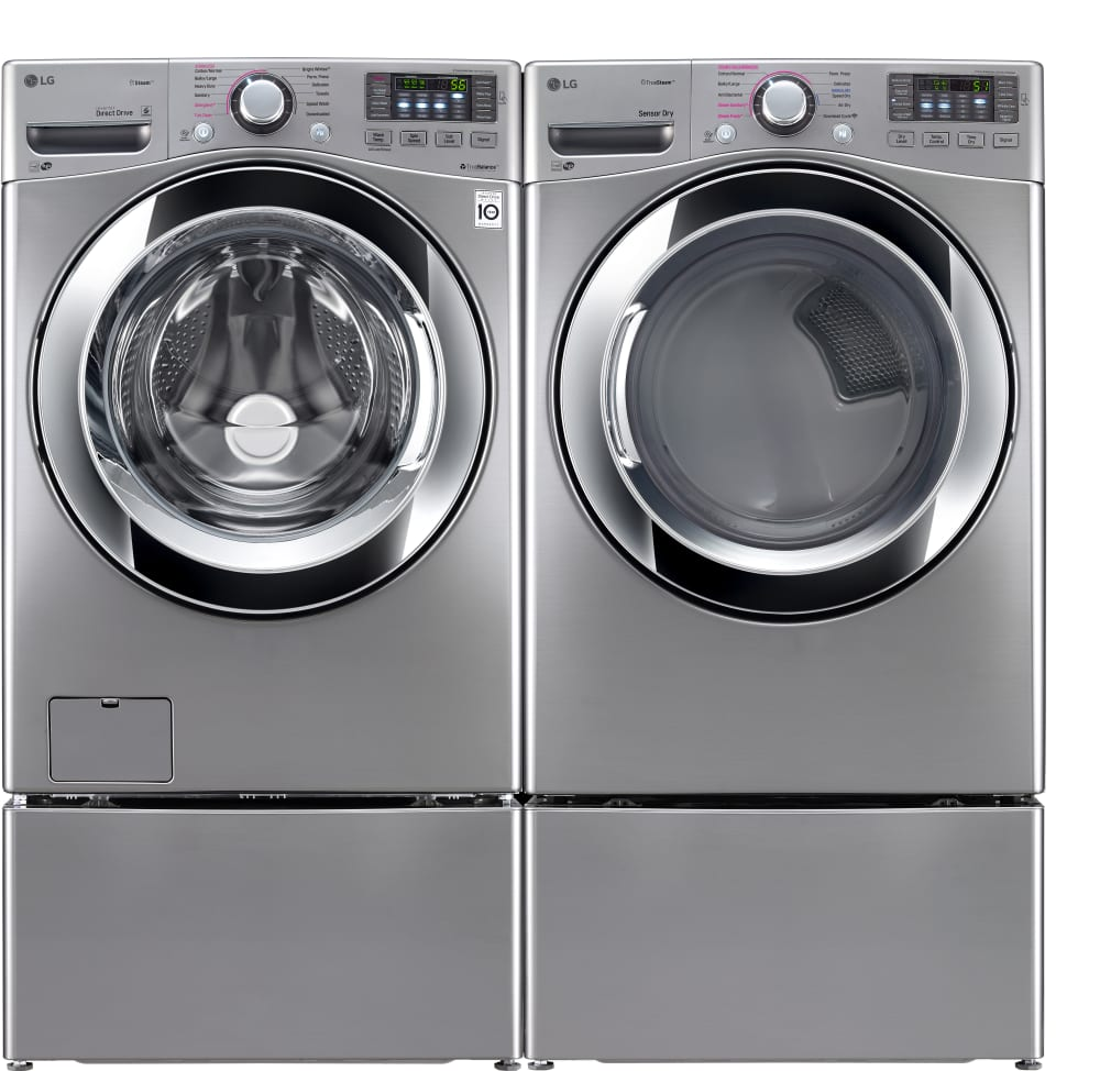 Washer And Dryer ~ Lg wm hva inch cu ft front load washer with