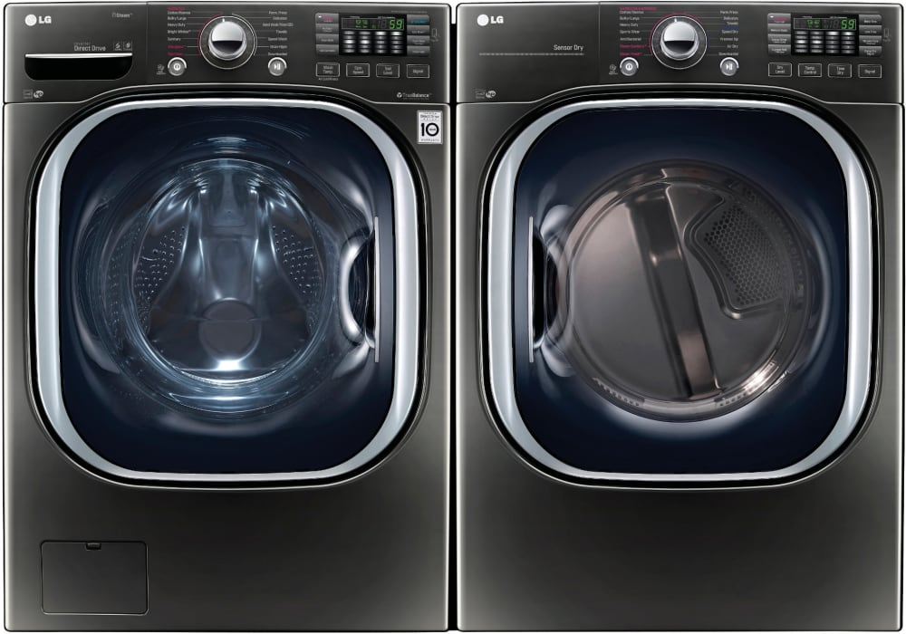 Lg Lgwadre43712 Side By Side Washer Amp Dryer Set With Front