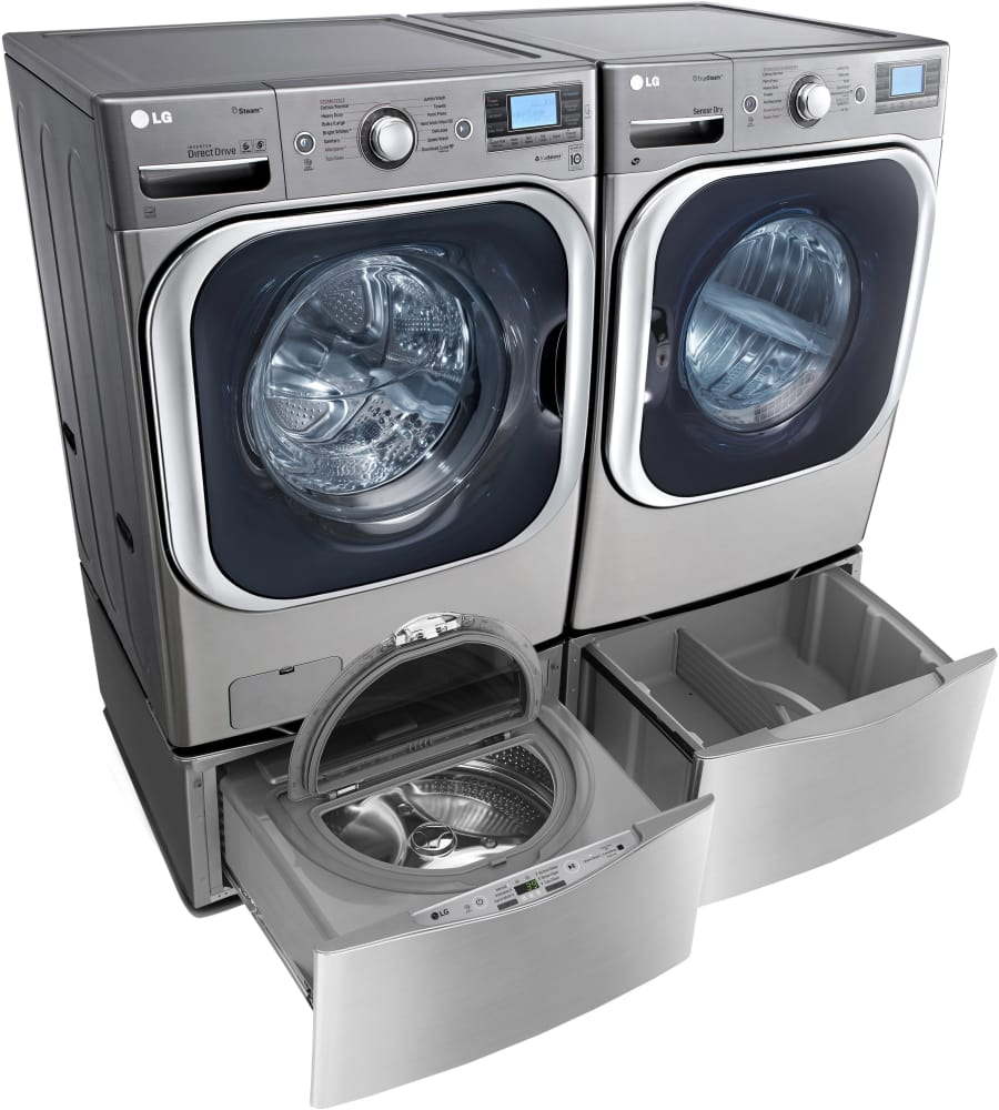 Lg Wm8500hva 29 Inch 5 2 Cu Ft Front Load Washer With 14 Wash Cycles 1 300 Rpm Lg Twin Wash