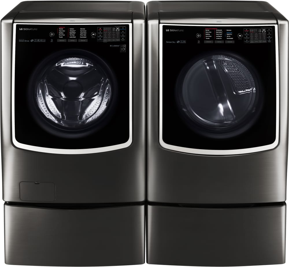 Lg Wm9500hka 30 Inch 5 8 Cu Ft Front Load Washer With 14