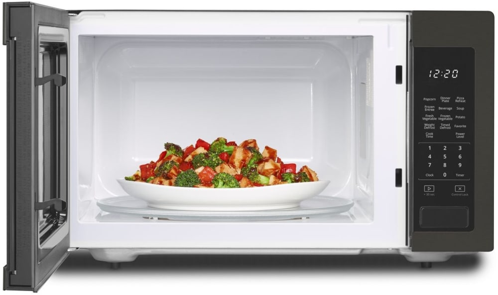 Whirlpool Wmc30516hv 1 6 Cu Ft Countertop Microwave With