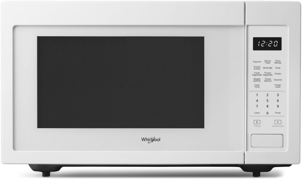 Whirlpool Wmc30516hw 1 6 Cu Ft Countertop Microwave With 200 Watt Cooking