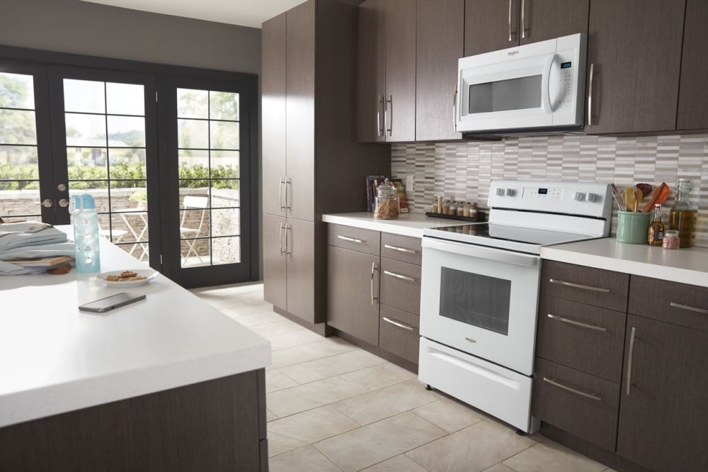 Whirlpool WMH31017HW 1.7 cu. ft. Over-the-Range Microwave with ...