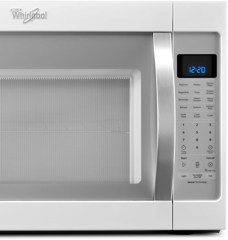 Whirlpool Wmh53520ch 2 0 Cu Ft Over The Range Microwave Oven With Steam Cooking Sensor Cleanrelease Interior