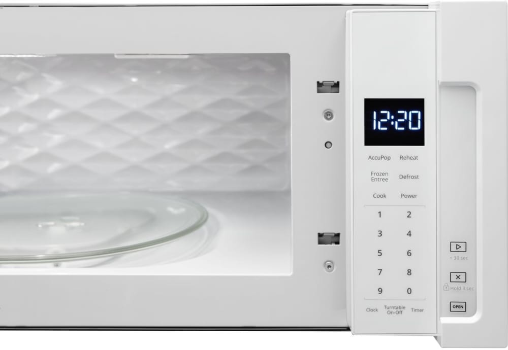 Whirlpool Wml55011hw 1 1 Cu Ft Over The Range Microwave
