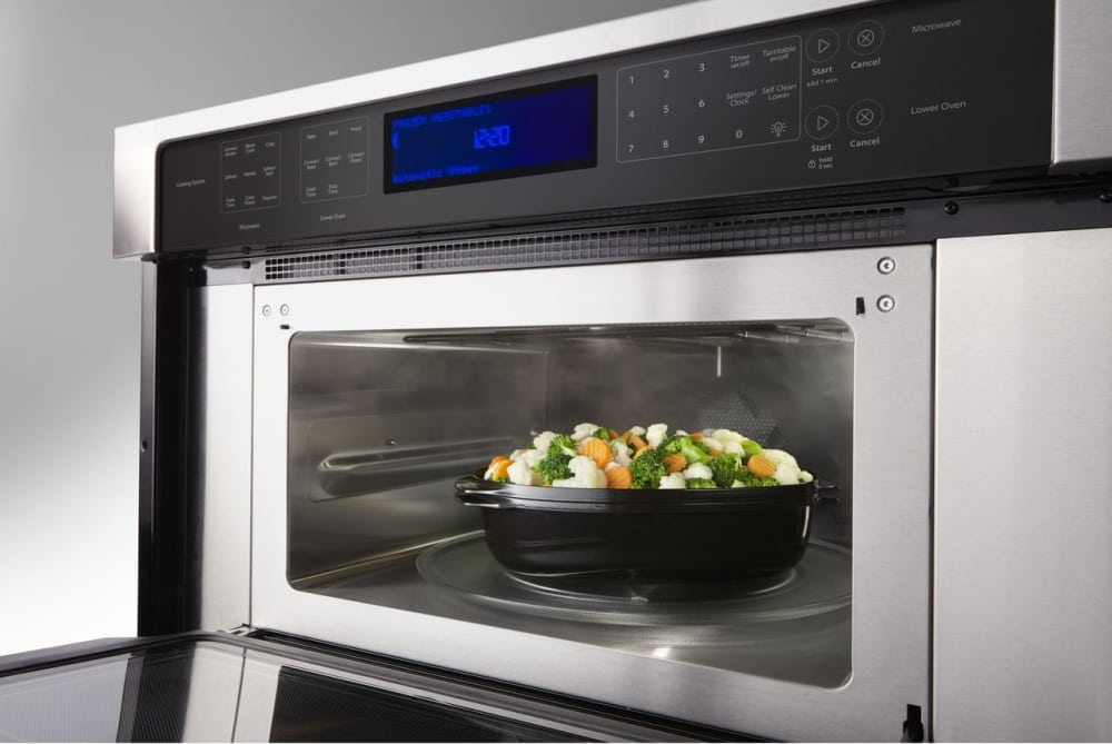 Whirlpool Woc97es0es Steam Cooking In The Microwave