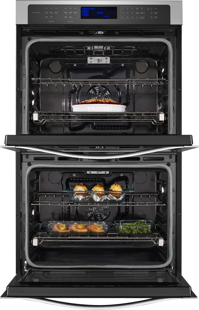 Electric Oven Open ~ Whirlpool wod es inch double electric wall oven