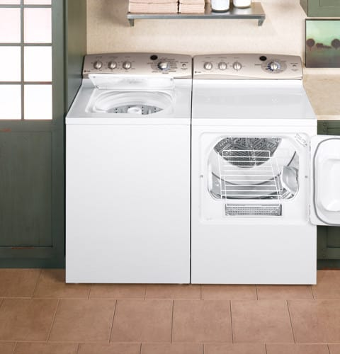 Ge Wpre8100gwt 27 Inch Top Load Washer With 3 5 Cu Ft