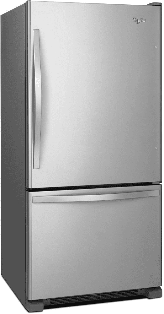 whirlpool wrb322dmbm 33 inch bottom freezer refrigerator with freshflow preserver accu chill. Black Bedroom Furniture Sets. Home Design Ideas