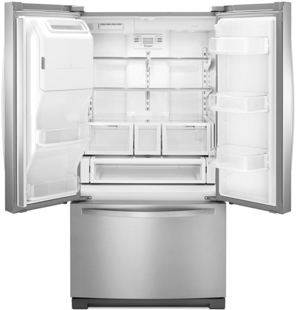 Whirlpool Gold French Door Refrigerator Reviews Part - 26: Capacity Whirlpool WRF767SDEM - Storage Options Include Spill-proof Glass  Shelves, A Full-width ...