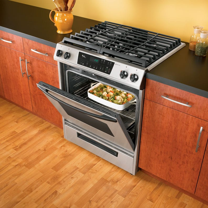 Whirlpool gw395leps 30 inch slide in gas range with for Ajmadison