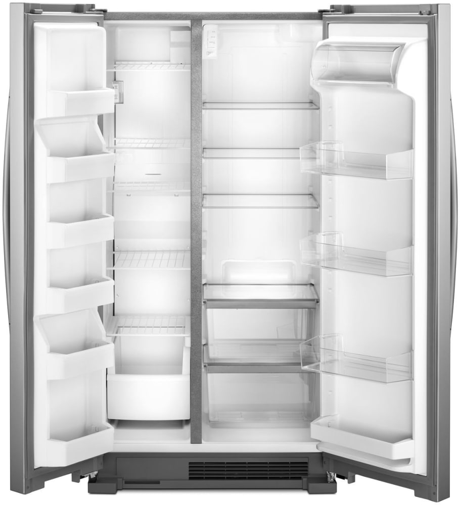 Whirlpool Wrs315snhm 36 Inch Side By Side Refrigerator With Spillproof Glass Shelves Adjustable