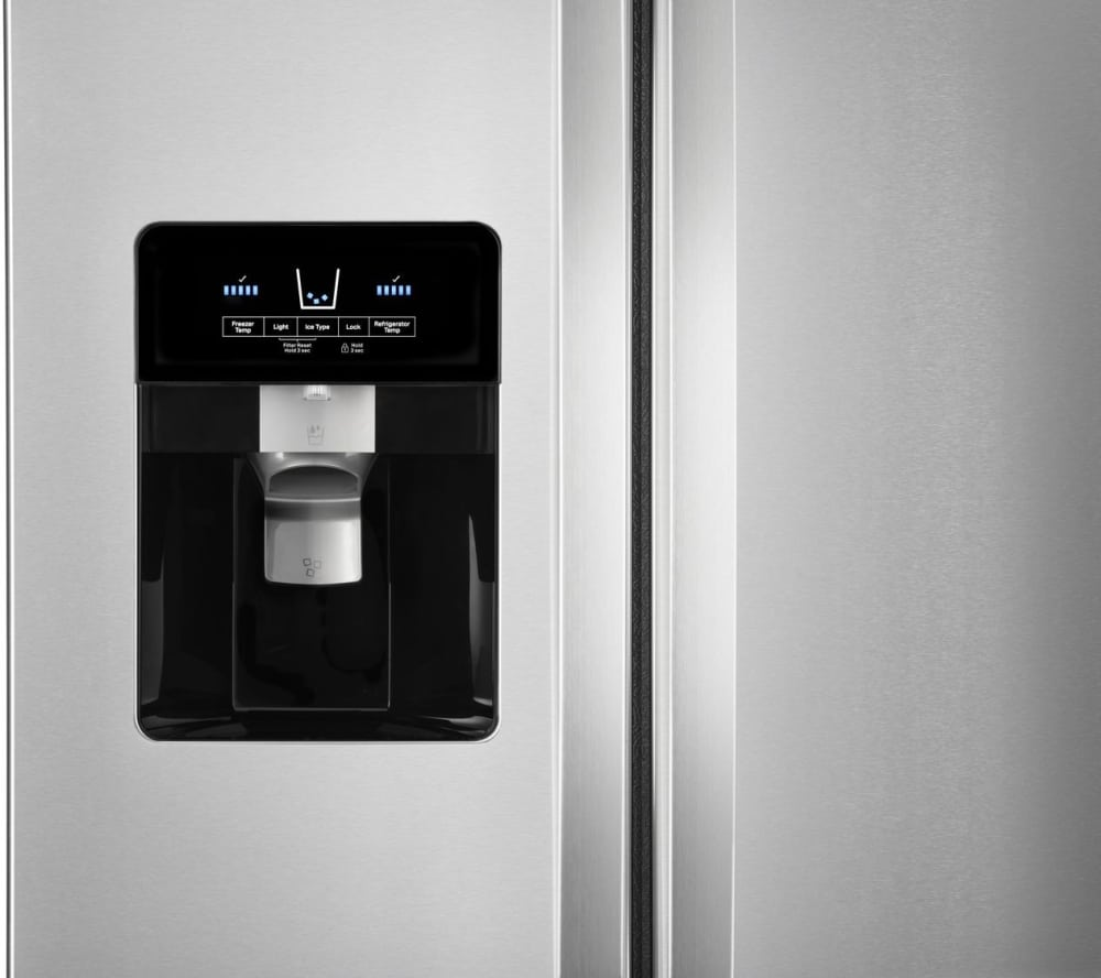 Whirlpool Wrs321sdhz 33 Inch Side By Refrigerator With Can Ice Maker Parts Diagram Further Exterior And Water Dispenser Everydrop Filtration In Fingerprint Resistant