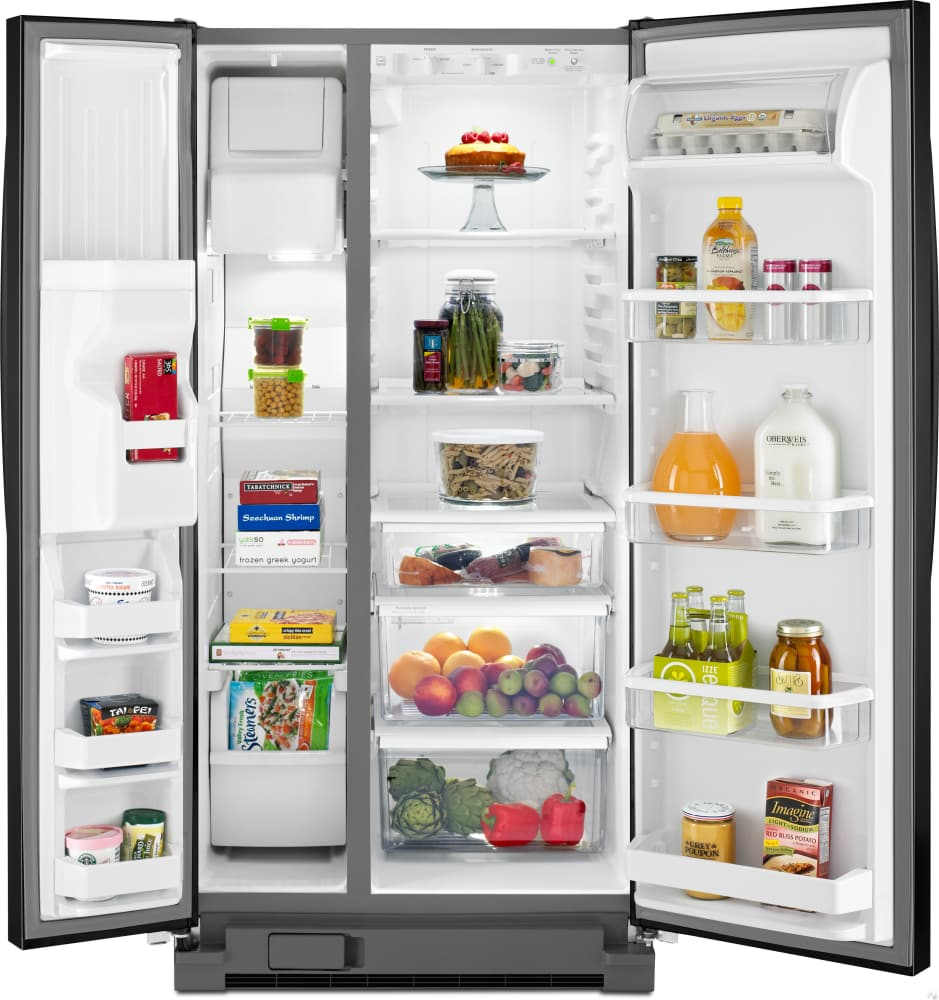 Side by side refrigerator 30 inch width - Whirlpool Wrs322fdam 33 Inch Side By Side Refrigerator With Accu Chill System Pur Water Filtration Led Lighting 22 Cu Ft