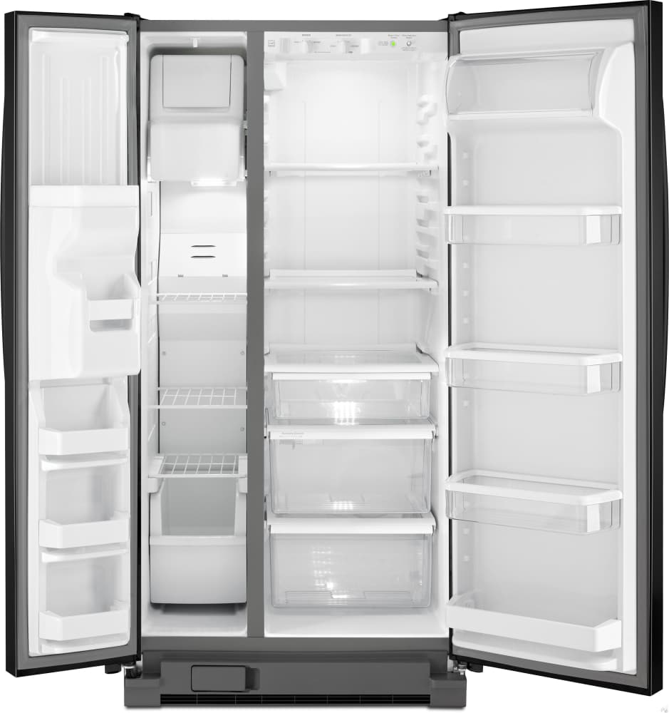 Side by side refrigerator no water dispenser - Whirlpool Wrs322fdam 33 Inch Side By Side Refrigerator With Accu Chill System Pur Water Filtration Led Lighting 22 Cu Ft