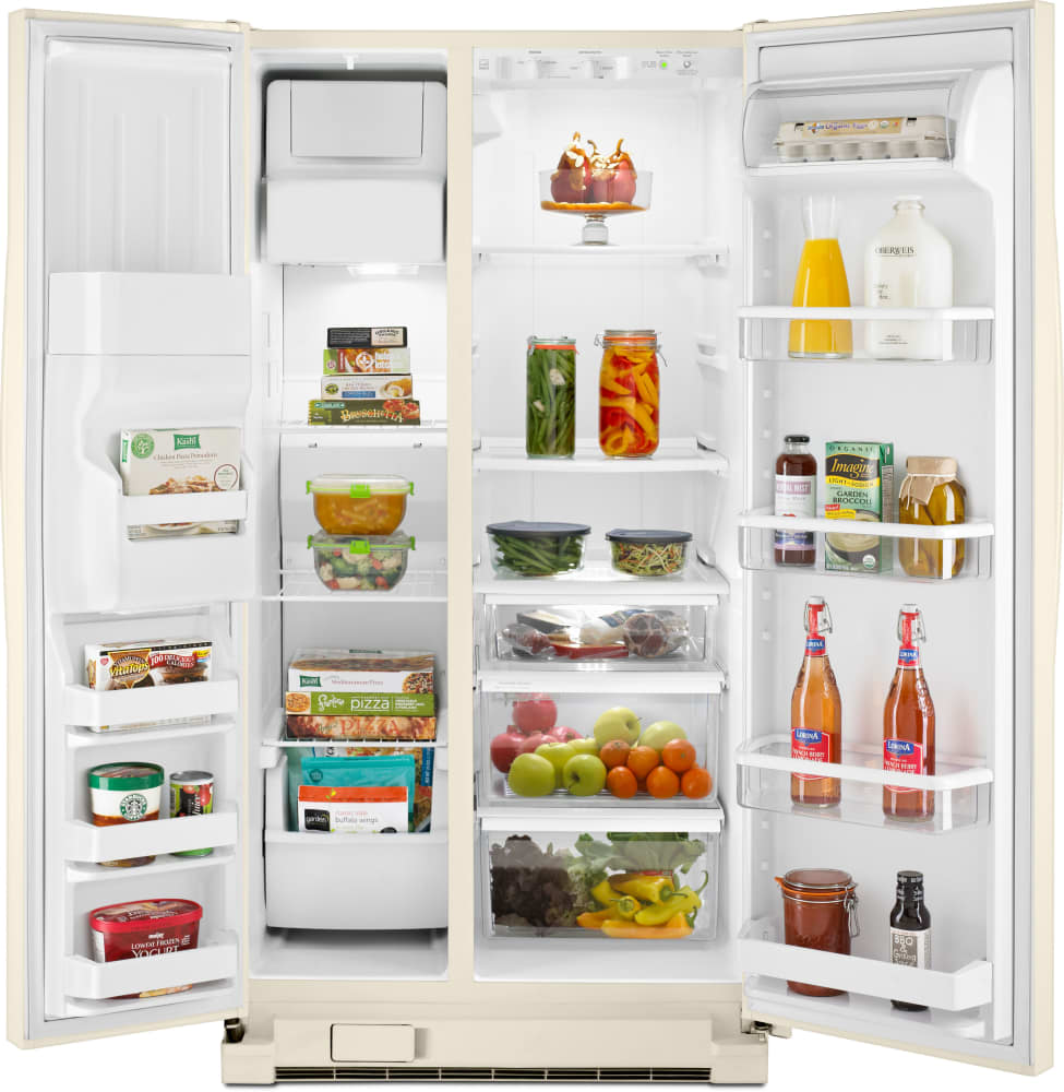 Whirlpool Wrs325fdat 36 Inch Side By Side Refrigerator With Spillguard Shelves Everydrop