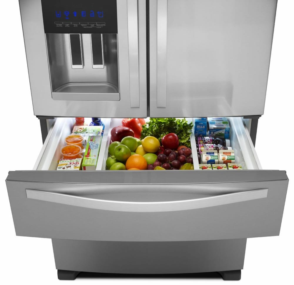 Whirlpool Wrx735sdbm 36 Inch 4 Door French Door Refrigerator With