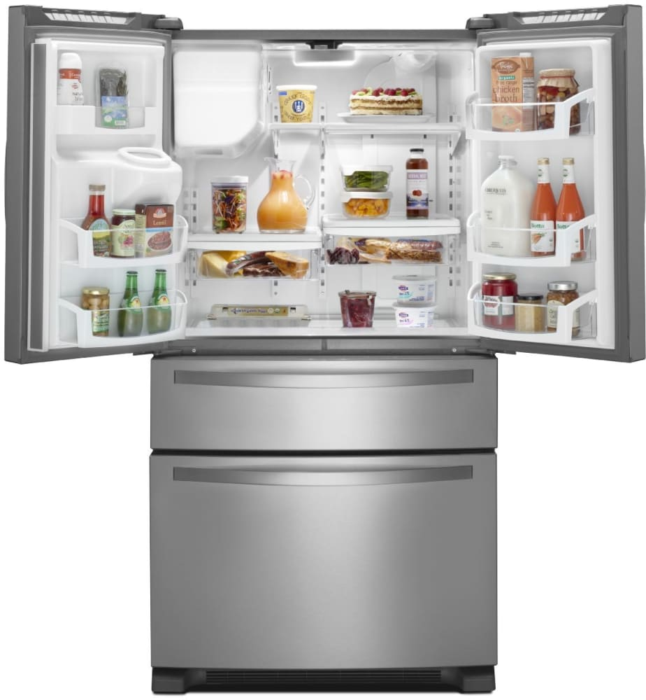 Stainless Steel Refrigerator With External Refrigerator Drawer Whirlpool  WRX735SDBM   Interior View Whirlpool WRX735SDBM   Interior View ...