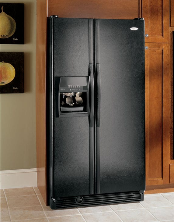 Whirlpool Gs5shaxnl 25 5 Cu Ft Side By Side Refrigerator With In Door