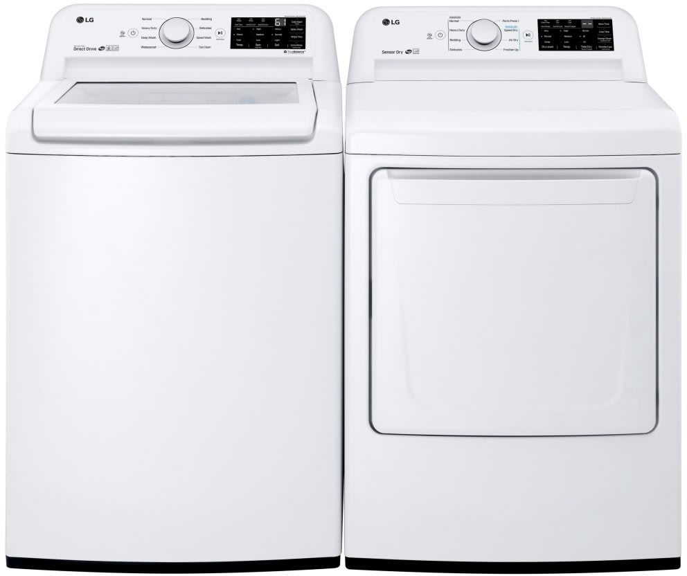 Lg Wt7100cw 27 Inch Top Load Washer With 8 Wash Programs Coldwash Option Neverust Stainless Steel Drum Direct Drive Motor Child Lock Smartdiagnosis 4 5 Cu Ft Capacity And Energy Star