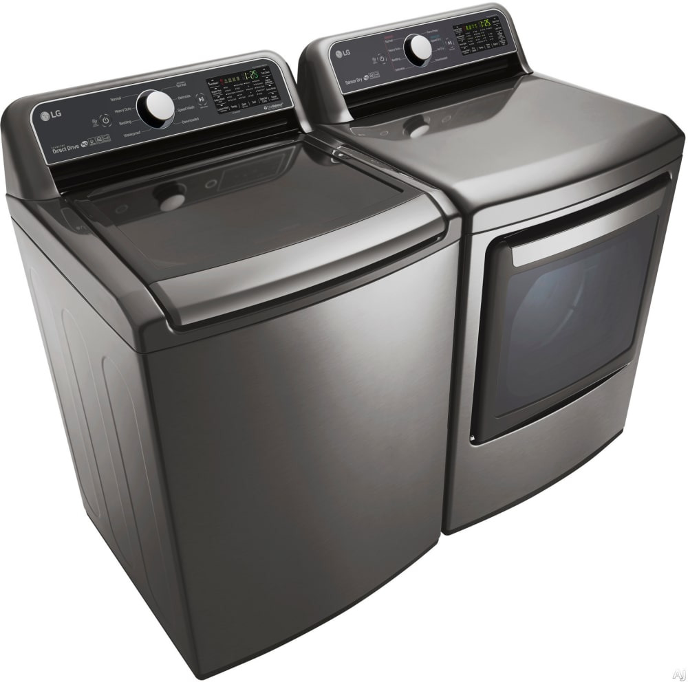 LG LGWADRGV1 Side-by-Side Washer & Dryer Set With Top Load