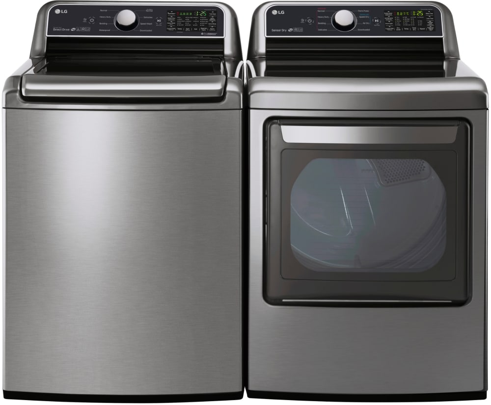 LG LGWADREGS40 Side-by-Side Washer & Dryer Set With Top